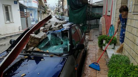 Rare Mediterranean storm hits Greece, causing floods