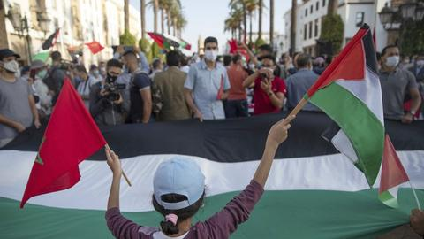 Moroccans protest Arab 'treason' against Palestinians after Israel deal