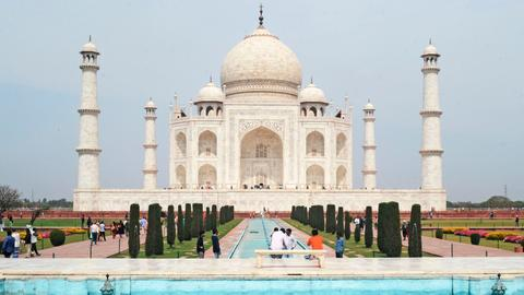 India reopens iconic Taj Mahal as Covid-19 cases soar
