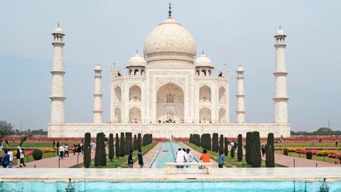 India reopens iconic Taj Mahal as Covid-19 cases soar