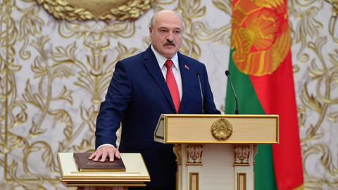 Lukashenko sworn in as Belarus president at 'secret' ceremony