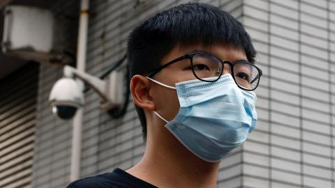 Hong Kong activist Joshua Wong arrested for unauthorised assembly