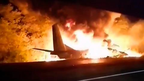 Ukraine military plane crash leaves dozens dead