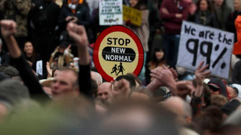 Thousands protest Covid-19 restrictions in London – latest updates