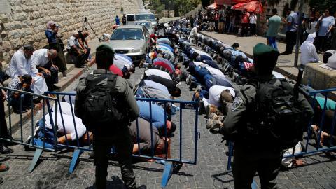 Muslims protest new Israeli security measures at Al Aqsa mosque