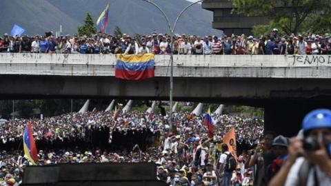 Nationwide strike to topple Maduro in Venezuela begins on Thursday