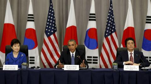 US, Japan, S Korea to jointly defend provocations of N Korea
