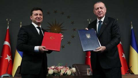 Turkish President Erdogan hails deepening cooperation with Ukraine