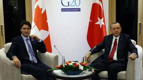 Erdogan, Trudeau discuss issues over Karabakh