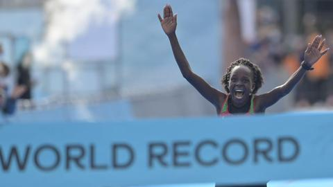 Kenya's Jepchirchir wins women only half-marathon in record time