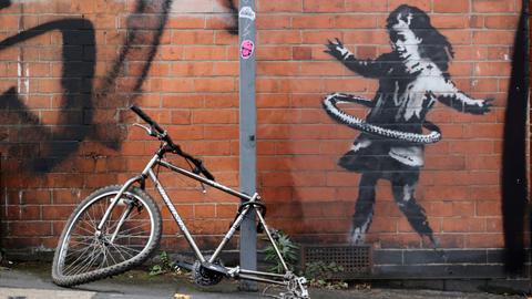 Banksy claims hula-hooping girl artwork in Nottingham
