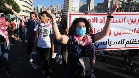 Hundreds in Lebanon mark first anniversary of protest movement