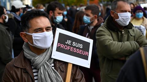 Slain French teacher was target of online threats