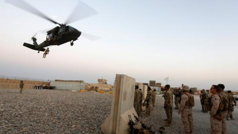 US air strike kills 16 Afghan policemen
