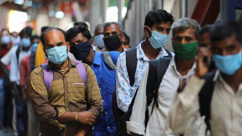 Almost 7.5M people now infected with Covid-19 in India  – latest updates