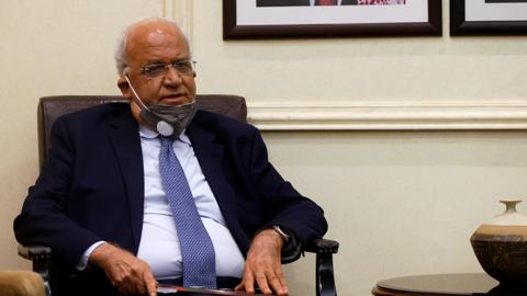 Chief Palestinian negotiator Saeb Erekat in serious condition with Covid-19