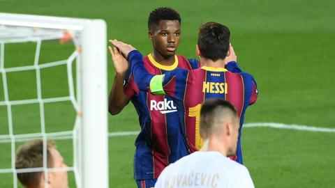 FC Barcelona start afresh with five-goal rout of Ferencvaros