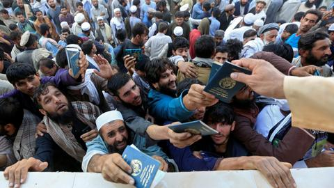 Stampede kills several Afghans trying to secure Pakistan visa