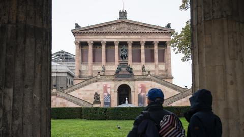 Art on display at Berlin's Museum Island vandalised