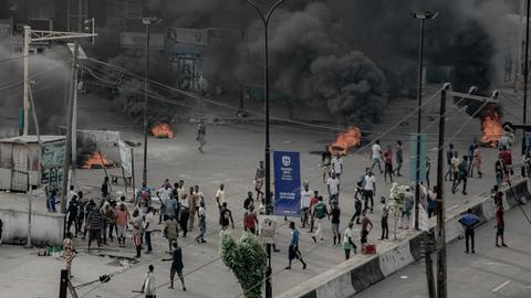 Unrest erupts in Nigeria's Lagos after protesters shot