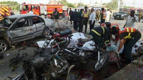 At least 26 dead in Lahore suicide blast