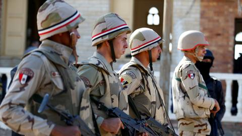 More than a dozen killed by explosive devices in Egypt's Sinai