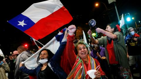 Chilean voters back rewriting country's dictator-era constitution