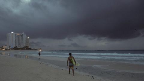 Hurricane Zeta threatens Mexico's Caribbean coast
