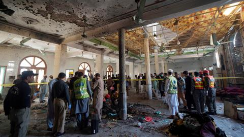 Blast at religious school in Pakistan kills several students, wounds dozens
