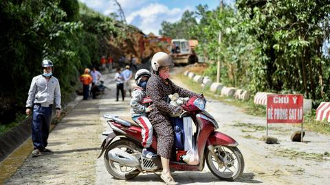 Several people dead, dozens missing as storm triggers landslide in Vietnam