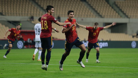 Spain crush Germany 6-0 to cruise into Nations League final four