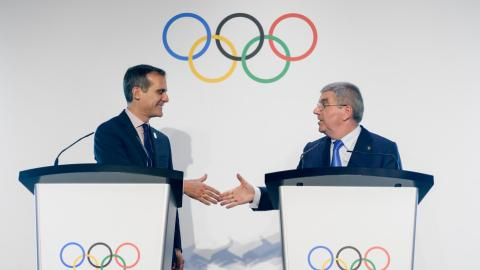 Paris to stage 2024 Summer Olympics with Los Angeles hosting 2028