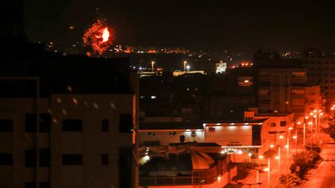 Israel carries out strikes on Gaza after rocket fire