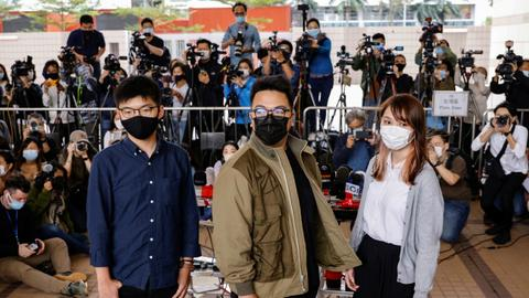 Joshua Wong pleads guilty at Hong Kong protest trial