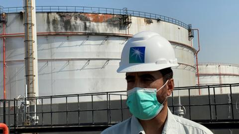 Houthi attack on Saudi Aramco plant damages oil tank