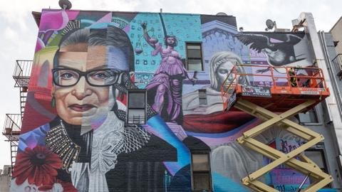 Mural celebrating Ruth Bader Ginsburg unveiled in New York's East Village