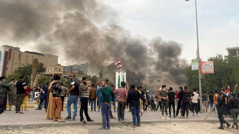Several dead as rival protesters clash in southern Iraq