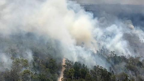 Australia bush fire destroys large swathes of heritage-listed island