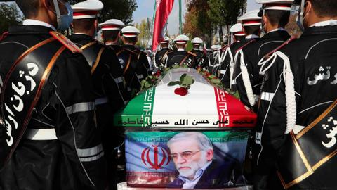 Iran buries nuclear scientist, accuses Israel of remotely killing him