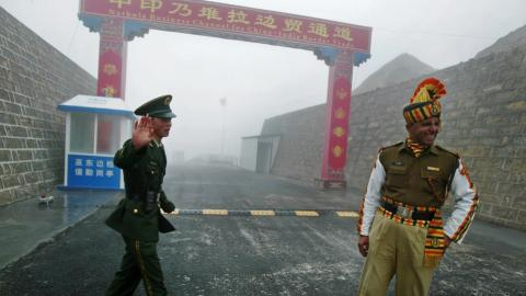 China says India building up troops amid border stand off