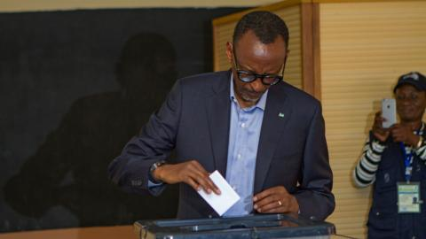 Rwandan president Kagame wins re-election