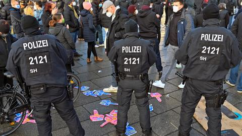 German police break up protests by coronavirus sceptics – latest updates