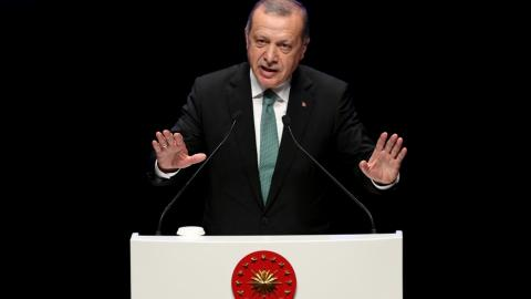 Erdogan says external powers aim to divide Turkey using terror groups