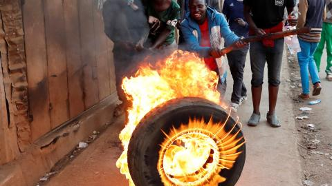 At least four killed in post-election violence in Kenya