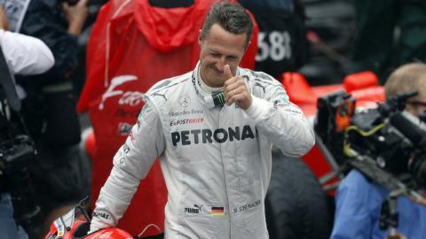 Michael Schumacher showing