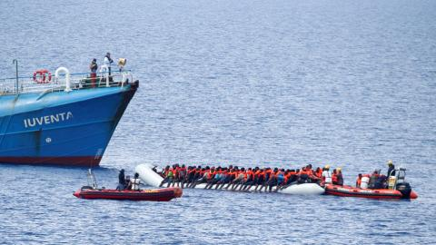 Battle on the high seas to rescue or return refugees