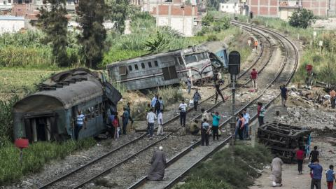 Over 40 killed in Egypt train crash
