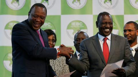 Uhuru Kenyatta wins Kenyan election