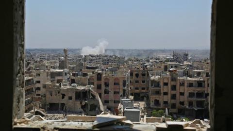 Explosion hits opposition on Syria-Jordan border