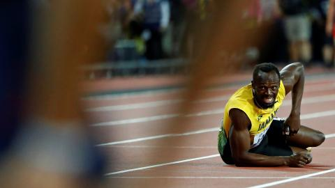 Usain Bolt injured in final race